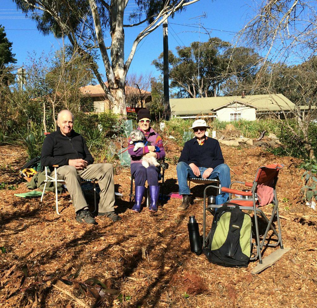 Phil, Karen, Sukhi & David in new UK bushcare haven